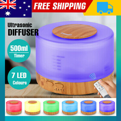 Ultrasonic Aromatherapy Diffuser Aroma 500ml Humidifier Essential Oil LED