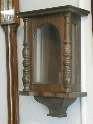 WALL CLOCK CASE, Vienna style cabinet parts spares vintage for movement mahogany