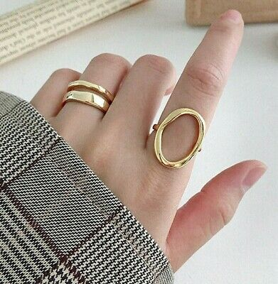 100% REAL Solid 925 Sterling Silver Round Ring Resizable Adjustable Minimalist
