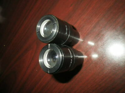 USED Set of 2 Leica  10X WF Stereo Microscope Eyepieces 23mm  311571