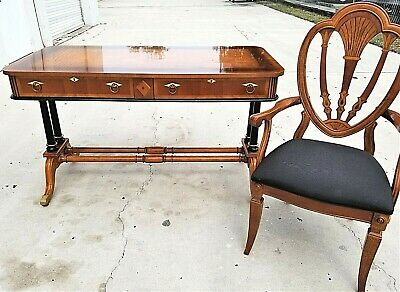 Very Nice French Empire Style Desk and Matching Chair by UNIVERSAL FURNITURE