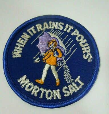 Vintage MORTON SALT Embroidered  Sew-On Patch  3""