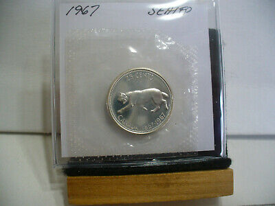 1967  Canada Silver Quarter  Dollar Top Grade    67   Proof Like  Sealed