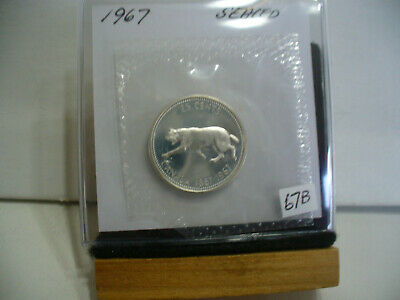 1967  Canada Silver Quarter  Dollar Top Grade    67B   Proof Like  Sealed
