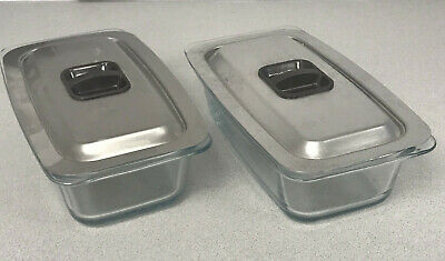 Hostess EkcoTrolley Dishes in clear glass & Lids  Hostess Phillips X 2 pair of