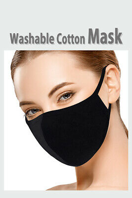 [Made in USA] Breathable and Reusable BLACK Face Mask