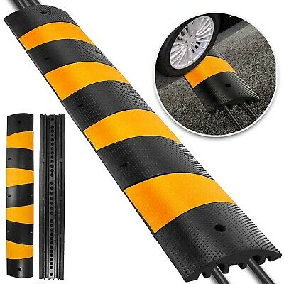 6Ft Modular Rubber Speed Bumps Electric Outdoor Warehouse Stable Substructure