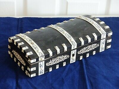 RARE Antique Large Anglo Indian Vizagapatam Table Box / Casket – Sandalwood