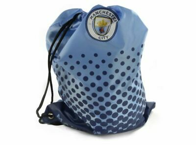 MANCHESTER CITY FADE  GYMSACK RUCKSACK- Free Postage SKY BLUE AND WHITE BNWT