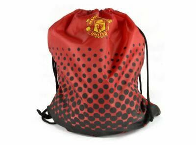 MANCHESTER UNITED FADE  GYMSACK RUCKSACK- Free Postage  RED AND BLACK  BNWT