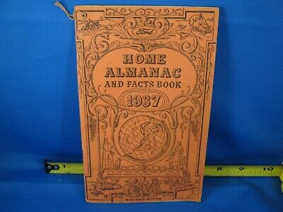 1937 Ford Automobile Home Almanac Book From H. & D. Motor Co. Watertown Wisconsi