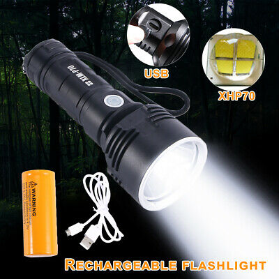 Super-bright 2300lm flashlight LED P70 Tactical torch With 5000mAh battery