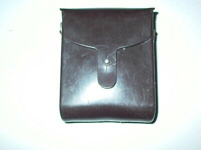 SWISS MILITARY ARMY BROWN PLASTIC BINOCULAR CASE Beautiful Collectors Condition