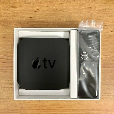 Apple TV 64GB 4K HD Media Streamer (MP7P2LL/A) - Black W/ Remote and Power Cable