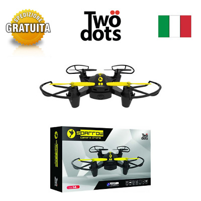 DRONE MINI QUADRICOTTERO RADICOMANDATO 2,4 Ghz CAMERA HD VIDEO FOTO LED