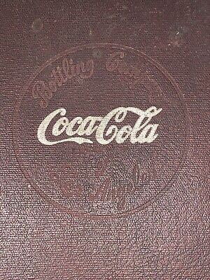 30's Embossed Coca Cola Los Angeles Bottling Salesman Manual Signs Vendo 81 Coke