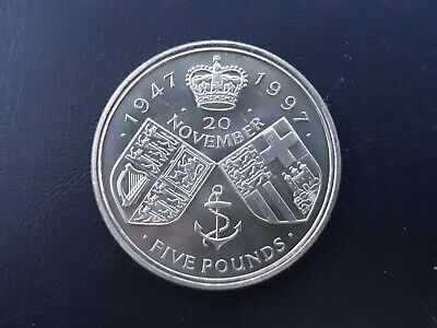 £5 Coin 1997 Queen and Prince Philip 50th Wedding Anniversary