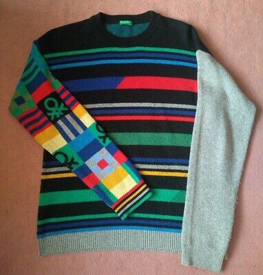 Men's United Colours of Benetton 10% Wool Jumper SMALL