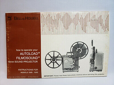 Bell & Howell Filmosound Autoload Model 1592 16mm - Owners Manual English/French