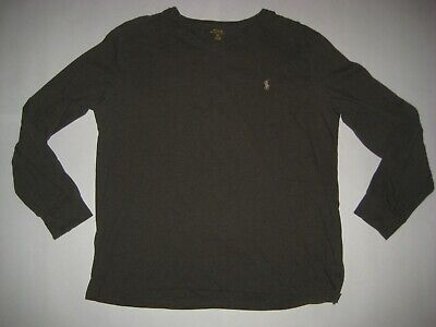 POLO RALPH LAUREN Mens long sleeve pullover Vneck Shirt XLARGE XL Olive Casual