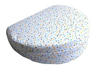 Maternity Support Pregnancy Support Pillow Wedge Pillow - New Blue Dot Spot