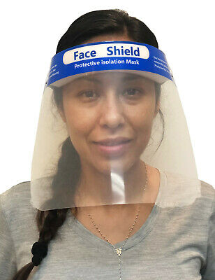 Safety Face Shield Reusable Protective Cover Guard Transparent Anti-Fog