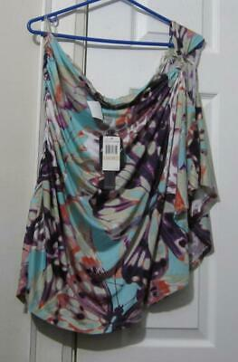 Baby Phat Slinky One Shoulder Blouse, Size 2X (22/1X), Nwt, Reduced
