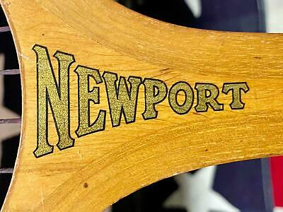 Vintage 1930s Newport Wood Tennis Racquet Wright & Ditson Antique Great Display!