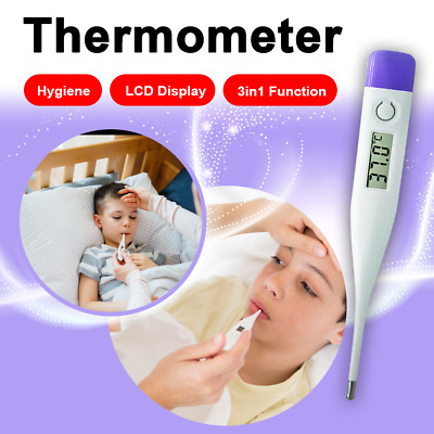 3IN1 Digital LCD Thermometer Temperature Fever Baby Child Adult AU Shipping
