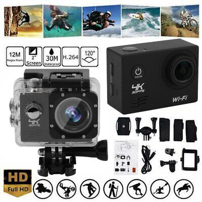2020 4K Ultra HD Wifi 1080P Sports Action Camera DVR DV Waterproof Camcorder WF