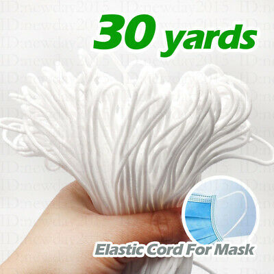 30 yards Diameter 3mm Round Elastic Band Cord For Face Mask Ear Hanging Sewing