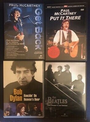 The Beatles Paul McCartney Electric Light Orchestra 4 DVDs Lote Live