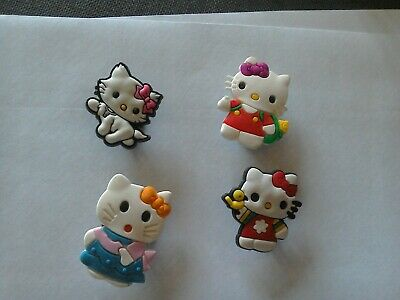 4 Hello Kitty Characters Mix Shoe Charms Crocs Croc Jibbitz Crafts Cake Toppers