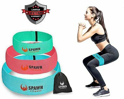 Resistance Bands Exercise Bands Legs Butt Glute Training Loop Cotton Latex 3 set