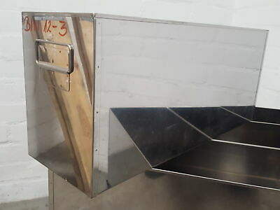 Lot of 7 Stainless -80 Freezer Storage Boxes Racks Lab  55cms x 23cms x 17.5cms