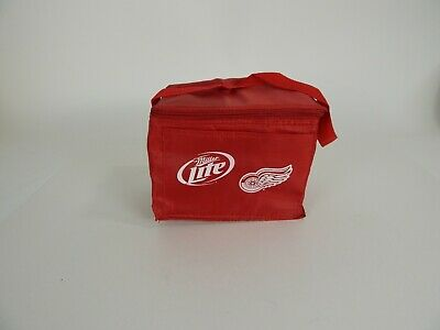 Miller Lite/Red Wings Insulated Lunch Bag/Box Cooler Men/Women Heavy Duty Nylon