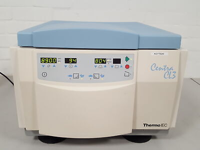 Thermo IEC Centra CL3 Lab Centrifuge + 2 Rotors Microplate & Bucket