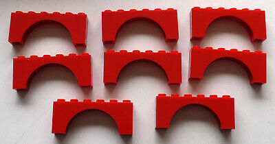Lego 1x3x2 Arch Red Lot of 8