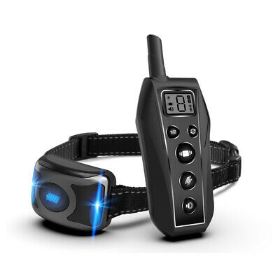 Dog Training Collar 1 or 2 Dogs 2000 ft Remote Rechargeable Waterproof Electric