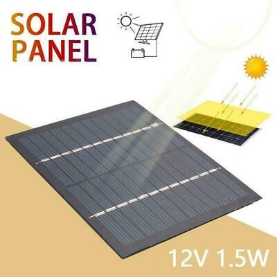1.5w/3w Solar Panel 12V DIY Mini System Portable Battery Phone Charger Cell L1O9