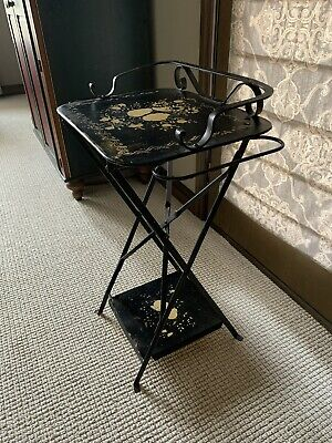 ANTIQUE Metal Wash Stand FRENCH - LOVELY!