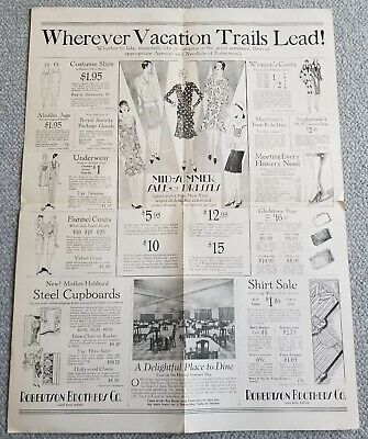 1928 Robertson Brothers South Bend Indiana Advertising Mailer SWIMSUITS Interior