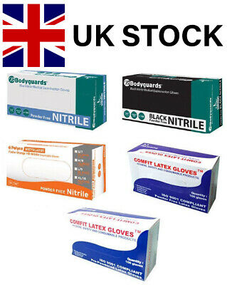 Disposable Latex - Nitrile - Vinyl Powdered Or Powder Free Gloves Box Of 100