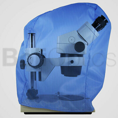 ESD Microscope Dust Cover, Cotton Fabric, Blue (Small)