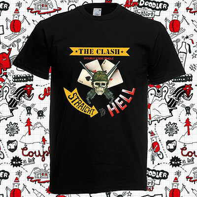 The Clash Straight to Hell Rock Band Mens Long Sleeve Black T-Shirt Size S-3XL