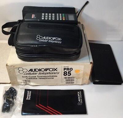 Audiovox Bag Phone Pro 85 in Original Box and Paperwork Excellent Condition