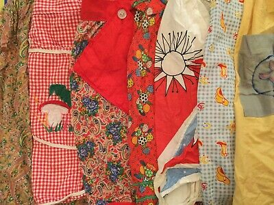 Lot Of 15 Vintage Aprons - Novelty 04252