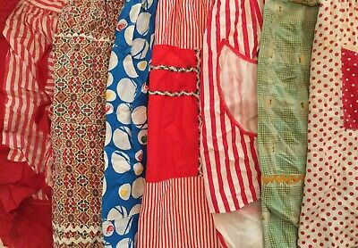 Lot Of 15 Vintage Aprons - Geometric 04255