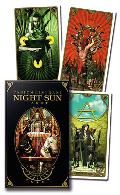 Night Sun Tarot 78 Cards Deck + Instruction Booklet - Lo Scarabeo - NEW!