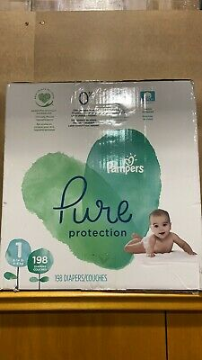 Pampers Pure Pro. Baby Diapers Size1, count 198